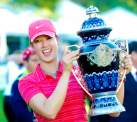 Michelle Wie wins first pro tournament LPGA in  Mexico 2009.PNG