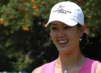 Michelle Wie with her big smile