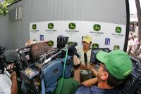 Michelle Wie is beeing interview at the PGA Tours John Deere Classic