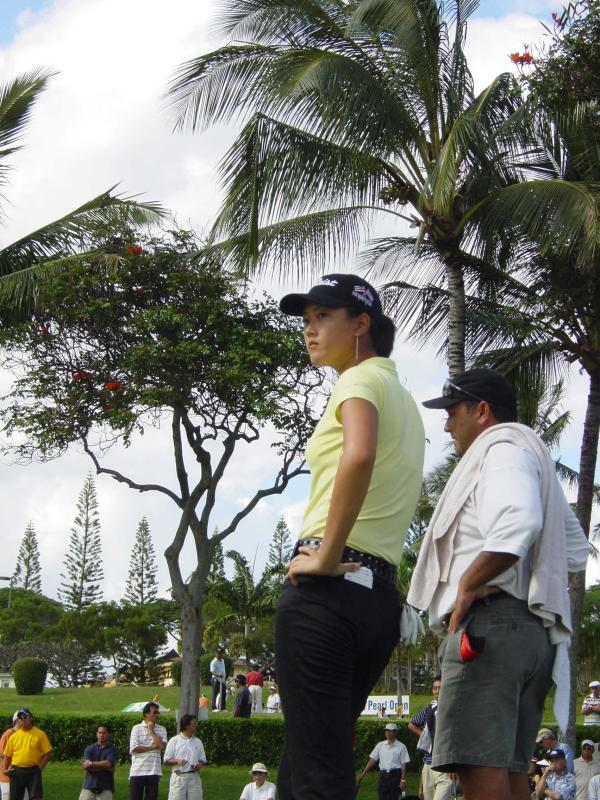Michelle Wie at the Pearl Open in Hawaii in 2004