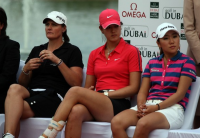 Michelle Wie was in the final round of the Dubai Ladies Masters, on the Majilis Course at the Emirates Golf Club in 2009 in Duba