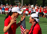 Michelle Wie with Christina at Solheim Cup.PNG