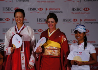Michelle Wie, Paula Creamer and Ai Miyazato at the Asian National Costumes.PNG