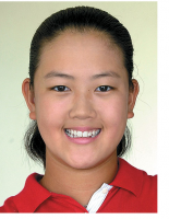 Young Michelle Wie picture with her hair pulled back.PNG