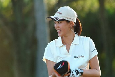 Michelle Wie in Hawaii with a big smile