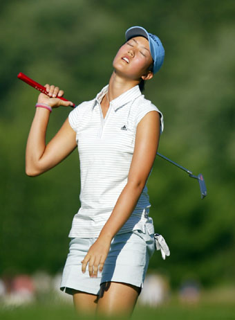 Michelle Wie at the 2005 U.S Women's Open